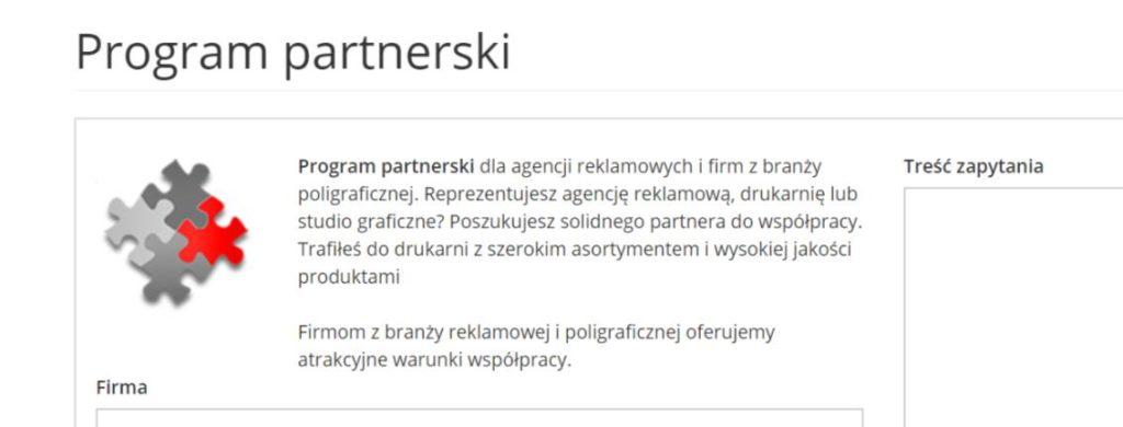 program partnerski drukarnia